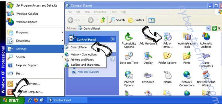 Remove Goweb App from Windows XP