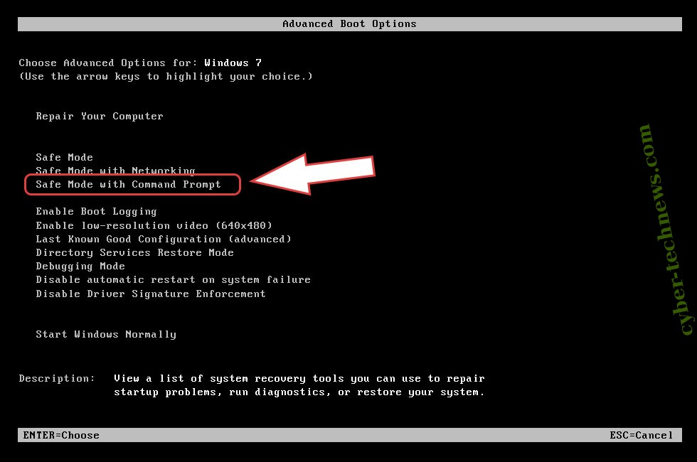 Remove nRansom Ransomware - boot options