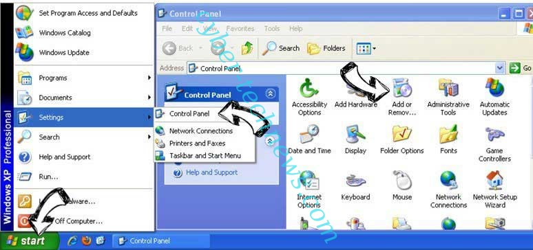 Remove Search.parazipper.com from Windows XP