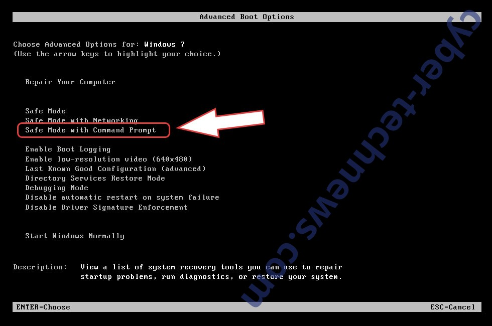 Remove MedusaLocker ransomware - boot options