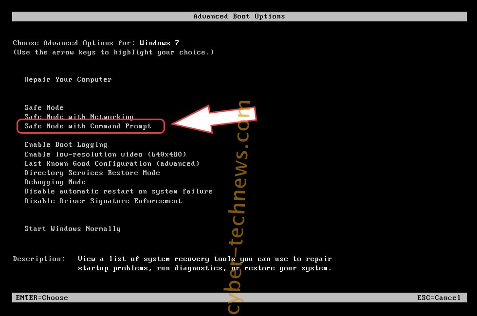 Remove Magniber ransomware virus - boot options