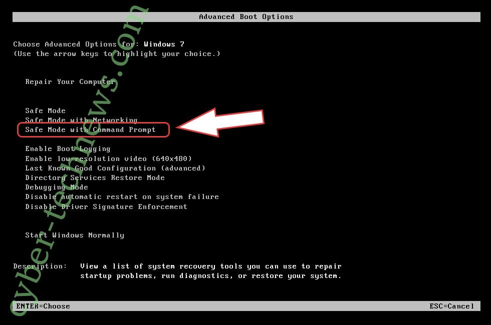 Remove .Reco file Ransomware - boot options