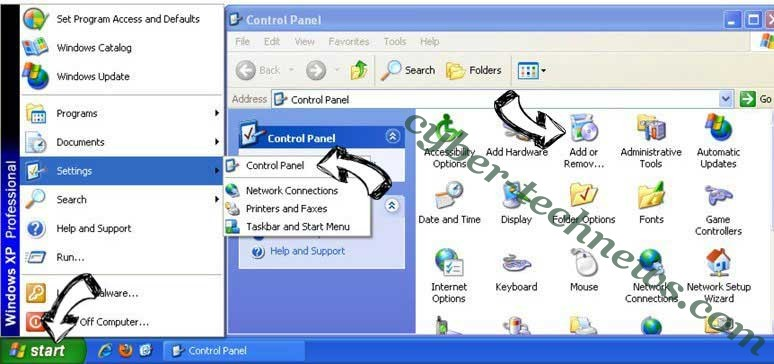 Remove Free.everydaylookup.com from Windows XP