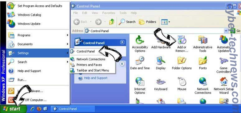 Remove Search Defender Prime redirect from Windows XP