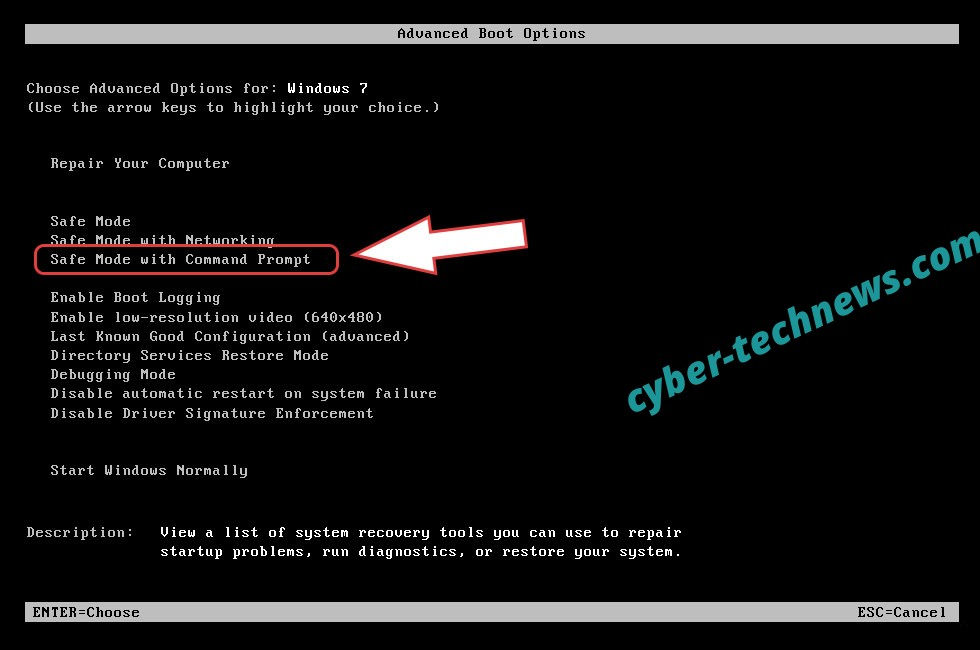 Remove .yarraq files virus - boot options