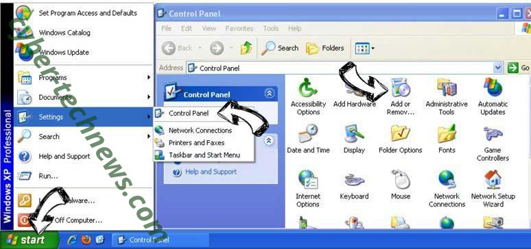 Remove Search.modal.couponsimplified.com from Windows XP