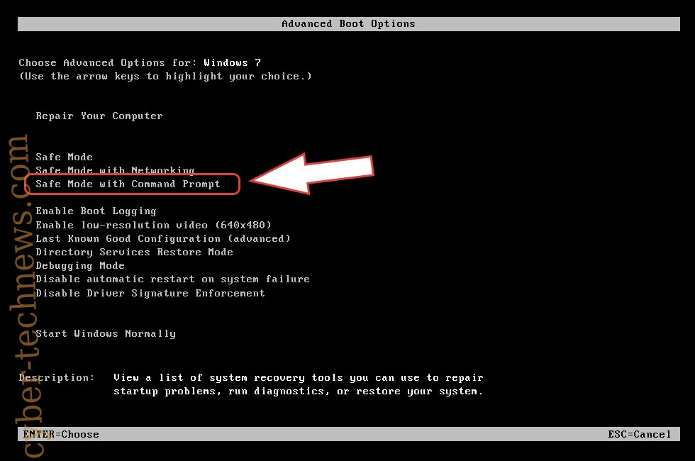 Remove .pluto file virus - boot options