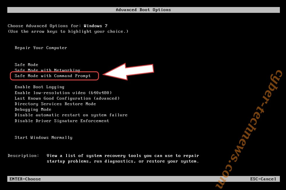 Remove .Encrypted0-18 Virus - boot options