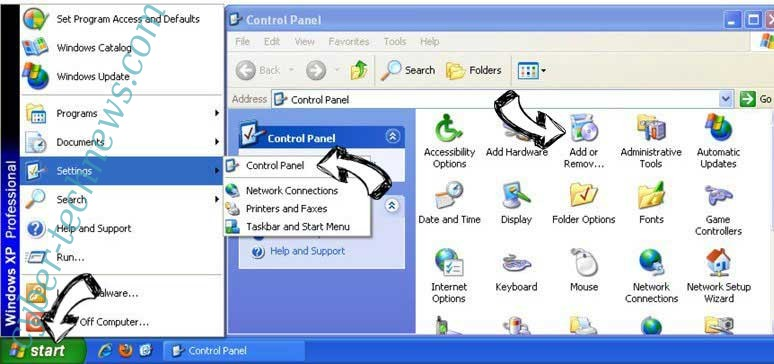 Remove Search.convertallfiles.com from Windows XP