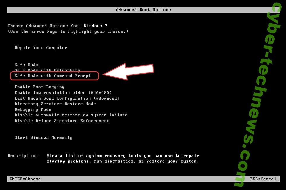 Remove iGZa4C ransomware - boot options