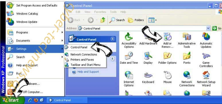 Remove Search.searchcoun2.com from Windows XP