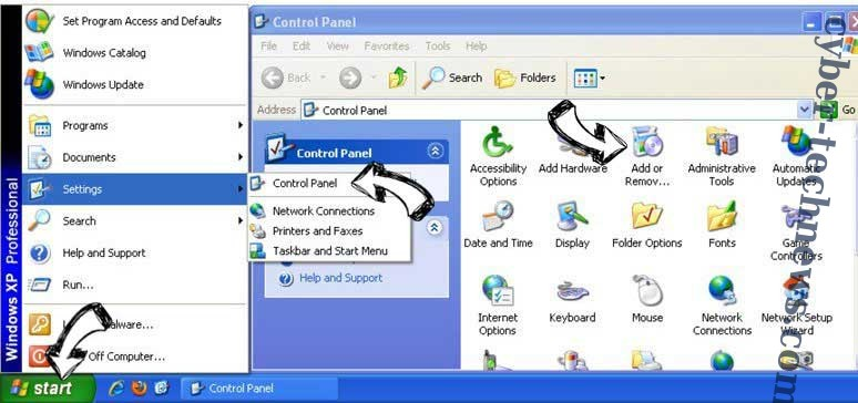 Remove Search.centralhubradio.com from Windows XP