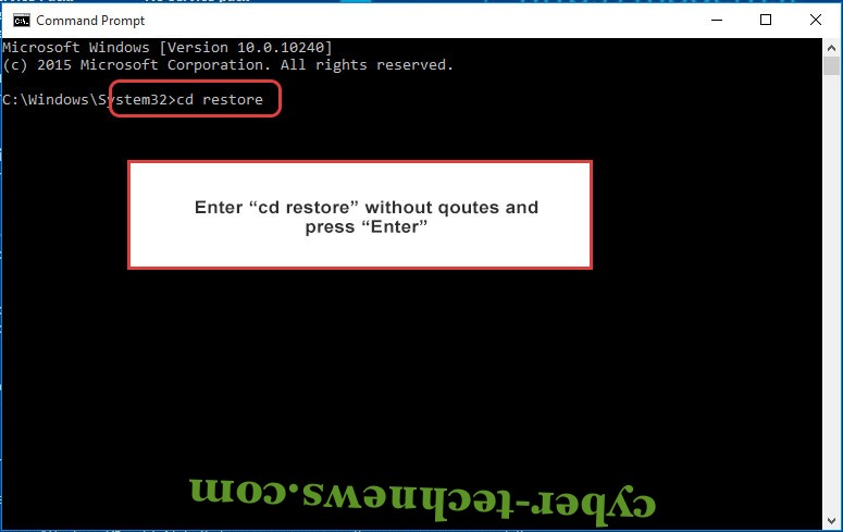 Uninstall Assembly Ransomware - command prompt restore