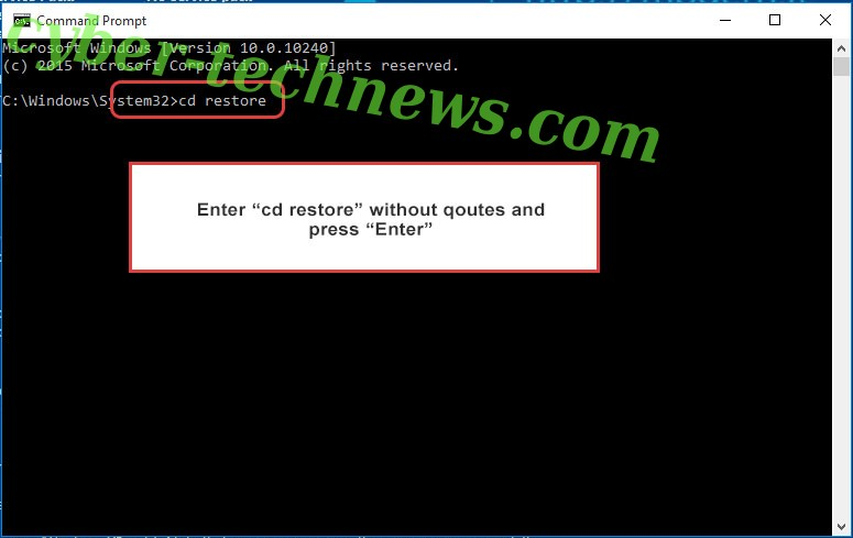 Uninstall Dalle Ransomware - command prompt restore