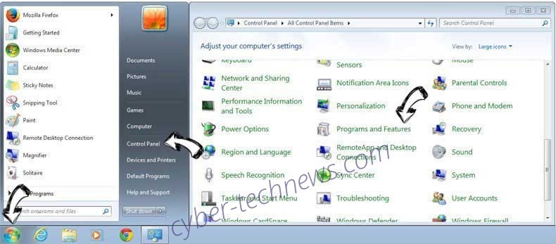 Uninstall EasyWay Search Redirect from Windows 7