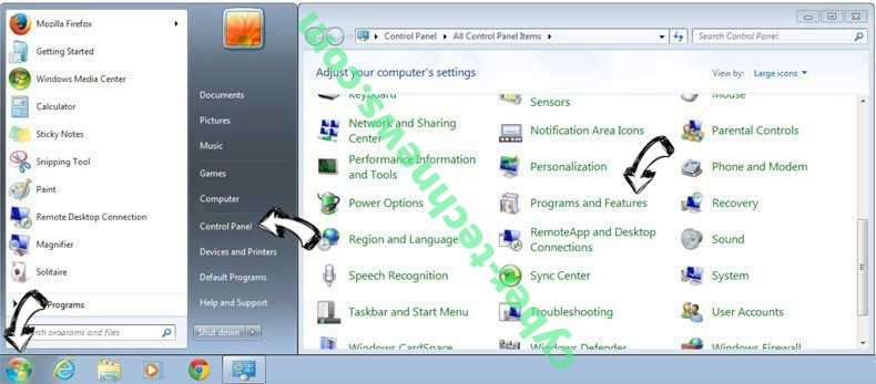 Uninstall Segurazo Antivirus Virus from Windows 7