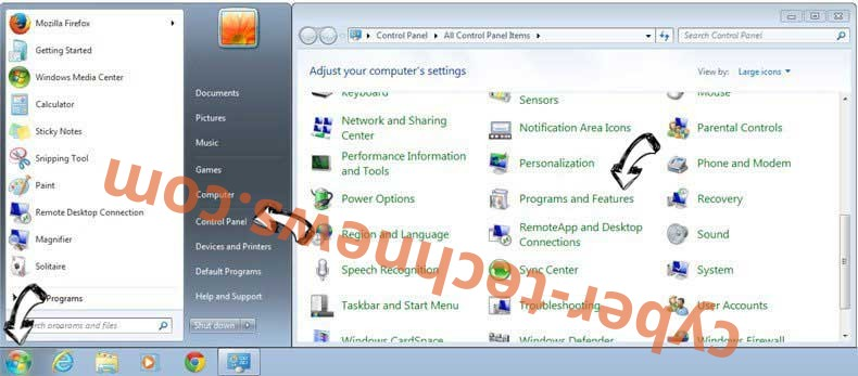 Uninstall Solo83.biz virus from Windows 7