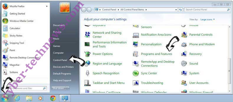 Uninstall Yoga Search Extension from Windows 7