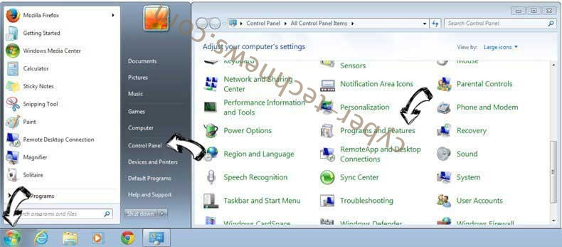 Uninstall Searchby.net from Windows 7