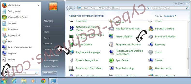 Uninstall TaxCenterNow Toolbar from Windows 7