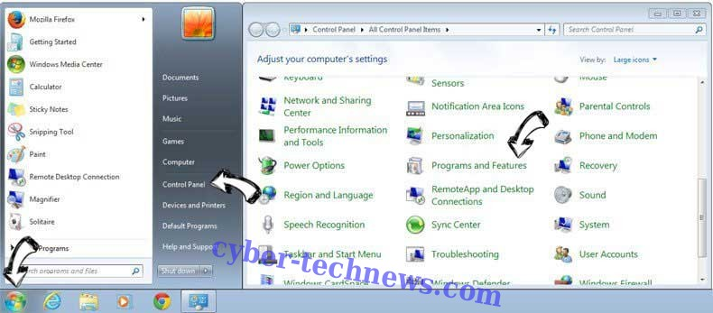 Uninstall AudioToAudio toolbar from Windows 7