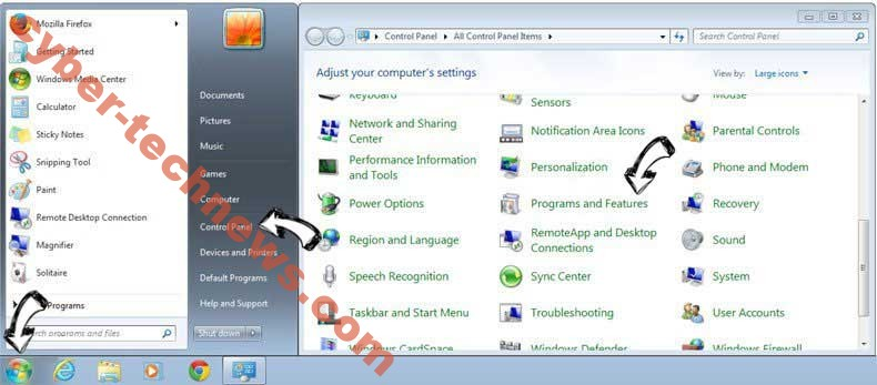 Uninstall Gsafe.getawesome3.com from Windows 7