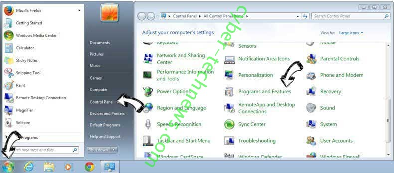 Uninstall MyFormsFinder from Windows 7