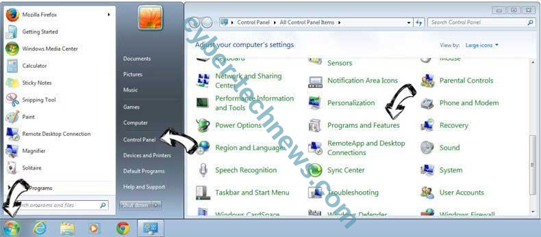 Uninstall Homepage.re from Windows 7