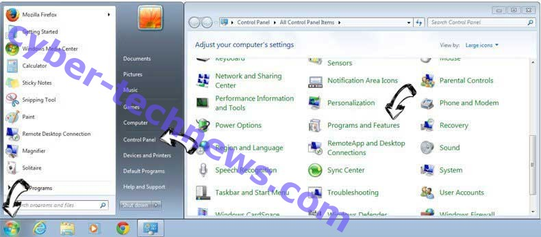 Uninstall Cloudnet virus from Windows 7