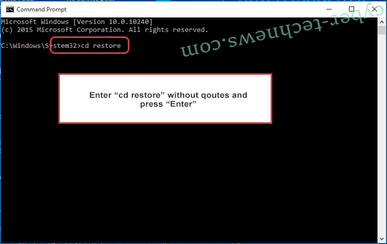 Uninstall .pluto file virus - command prompt restore