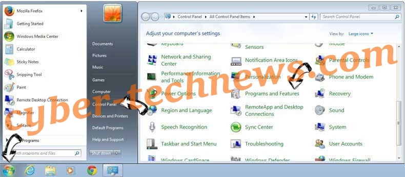Uninstall Newsgmae.pro from Windows 7