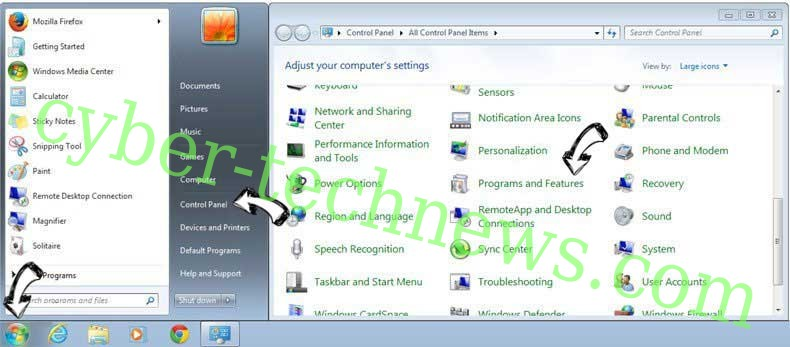 Uninstall Converter hub Virus from Windows 7