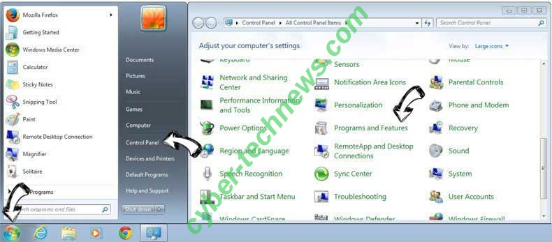 Uninstall Search Manager from Windows 7
