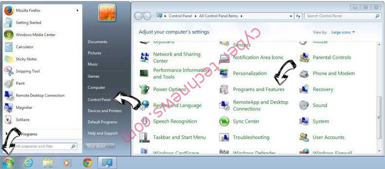 Uninstall Zumanek Trojan from Windows 7