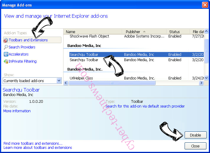 Chill-tab Search Virus IE toolbars and extensions