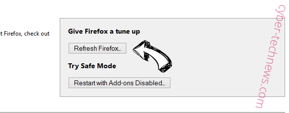 Websrch.net Firefox reset