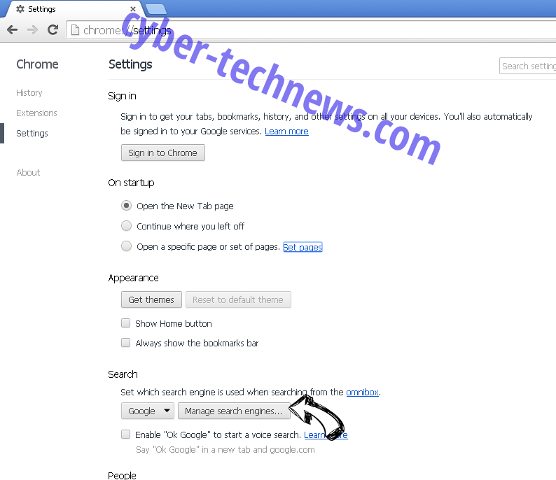 Search By eTogether Chrome extensions disable