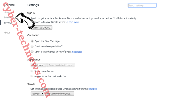 GetFormsHere virus Chrome settings
