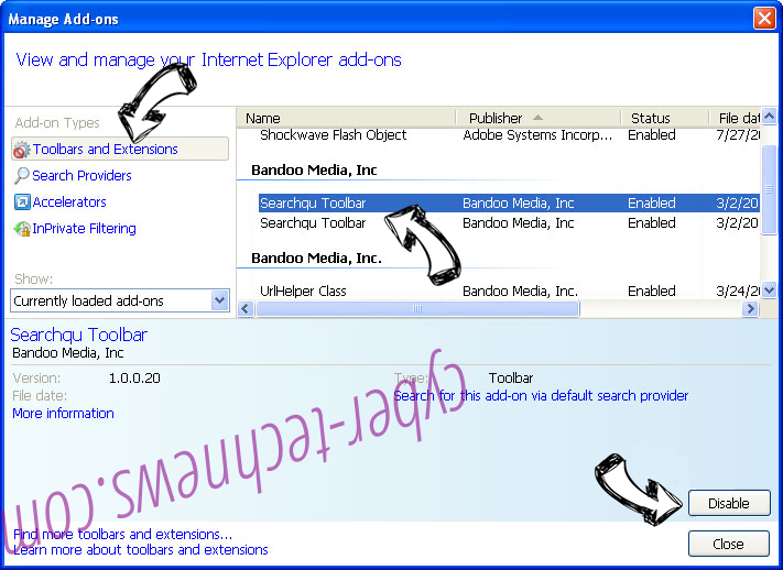 Search.cal-cmf.com virus IE toolbars and extensions