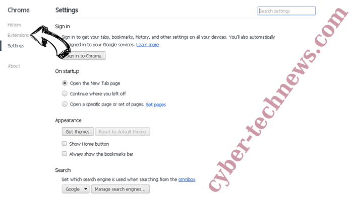 Uc123.com Chrome settings
