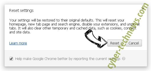 Out.tictaktrack.com Chrome reset