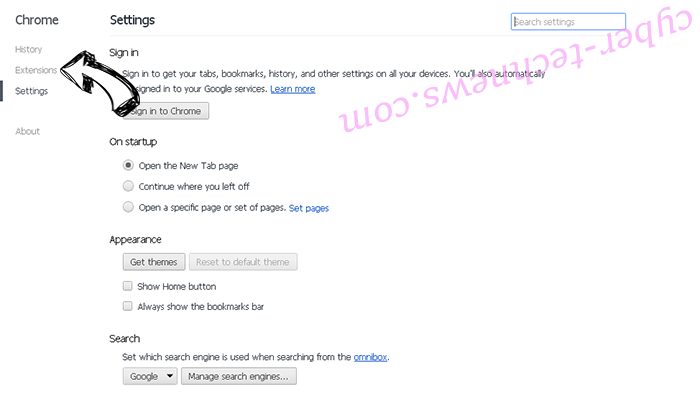 Lite PDF Reader Virus Chrome settings