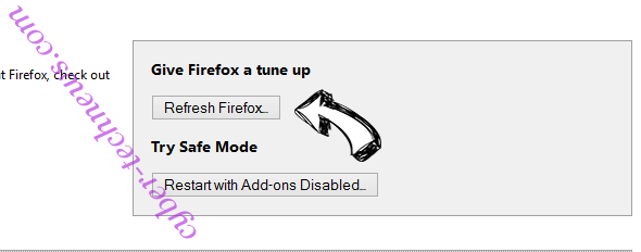 Go.amroute.net Redirect Virus Firefox reset