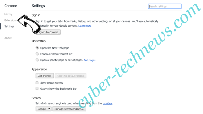 SearchGoSearch Chrome settings