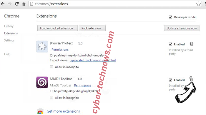 MySocialShortcut Chrome extensions remove