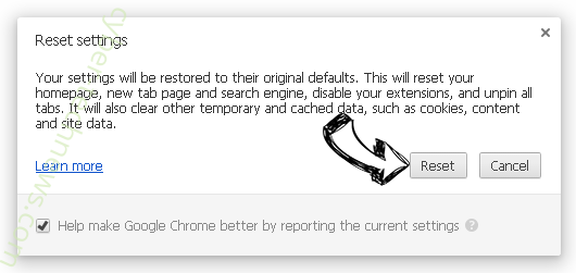 The System Is Badly Damaged POP-UP Scam Chrome reset
