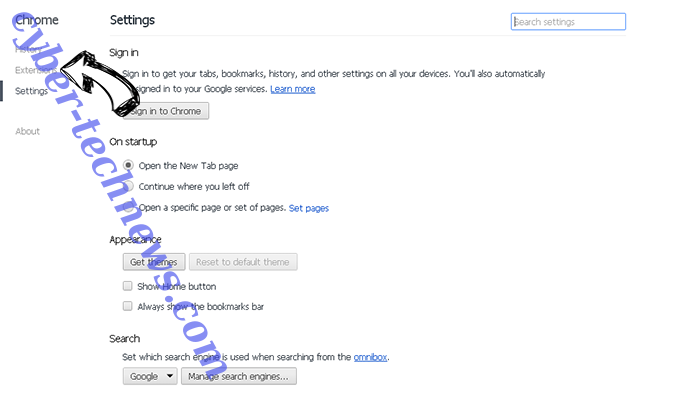 PDFster Virus Chrome settings
