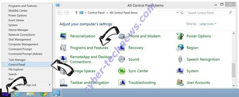 Delete Yayzap Adware from Windows 8