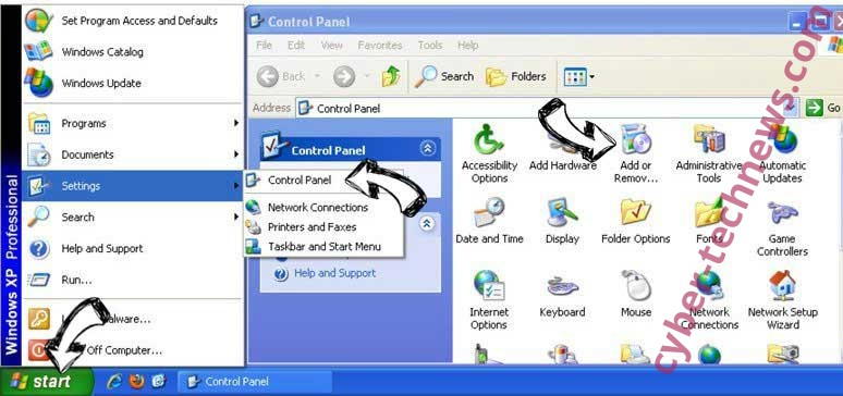 Remove Sports Addict Toolbar from Windows XP