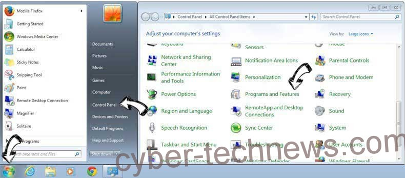 Uninstall SportsHero Toolbar from Windows 7